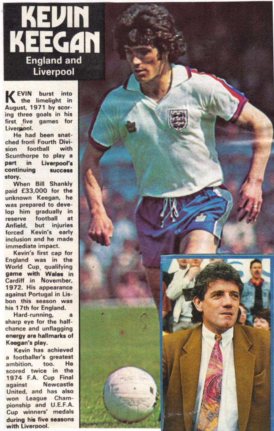 LIPTON TEA-FOOTBALL KEVIN KEEGAN LIVERPOOL ENGLAND