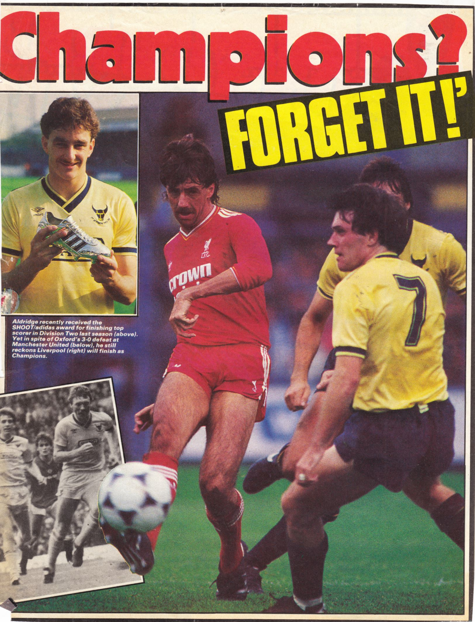 Aldridge predicts the title for Liverpool - 1985/86