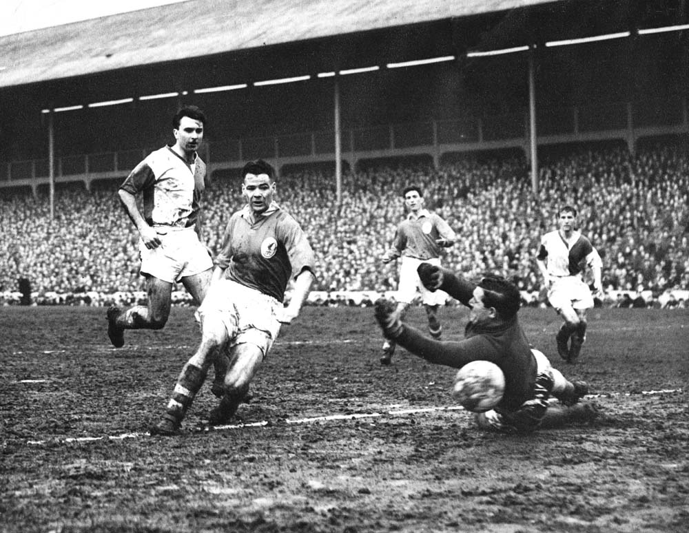 Billy shoots and scores vs Blackburn on 16th of February 1957