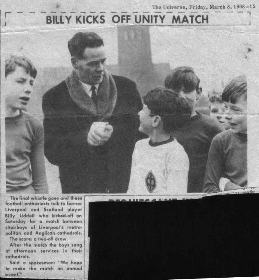 Billy kicks off unity match in March 1968