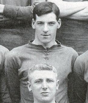 Donald MacKinlay at the start of his Liverpool career in 1910