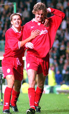 Macca celebrates against Celtic