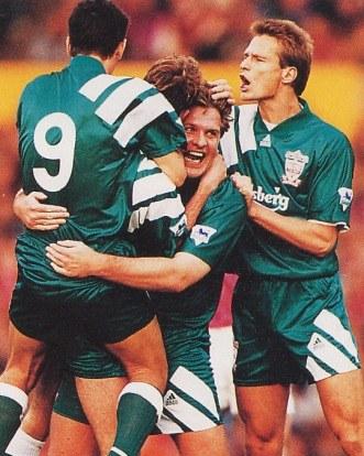 Piechnik celebrating Jan's goal