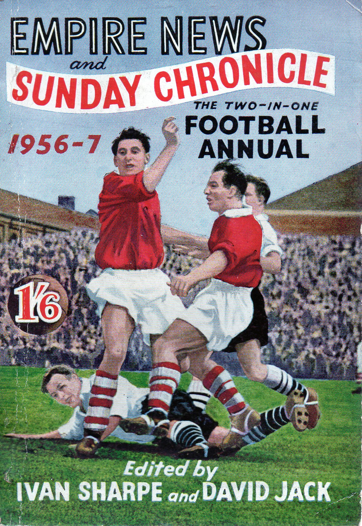 Laurie Hughes on the cover of Empire News and Sunday Chronicle 1956/57 annual