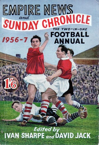 Ronnie Moran on the cover of Empire News and Sunday Chronicle 1956/57 annual