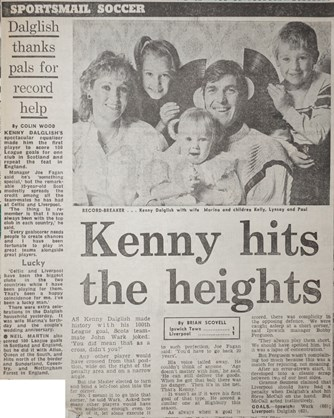 Kenny hits the heights - 26 November 1983