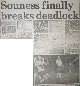 Souness finally breaks deadlock - 28 November 1983