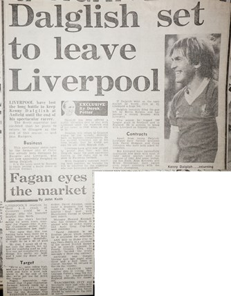 Dalglish set to leave Liverpool - 10 December 1983