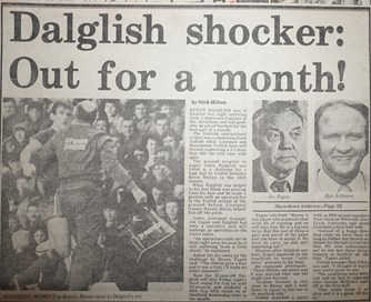 Dalglish shocker as he's out for a month - 2 January 1984