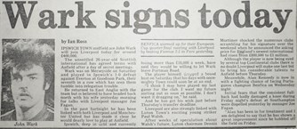 Wark signs today - 20 March 1984