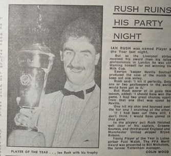 Rush spoils his party night - 25 March 1984