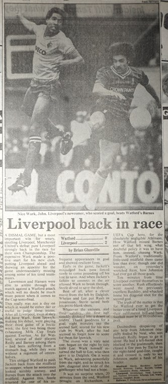Liverpool back in race - 31 March 1984