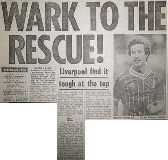 Wark to the rescue - 18 April 1984