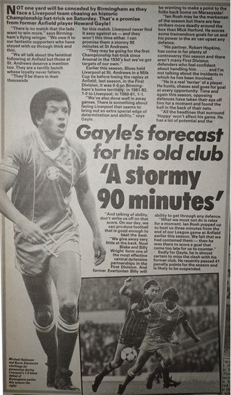 A stormy 90 minutes - 5 May 1984
