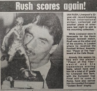 Rush player of the year - 18 May 1984