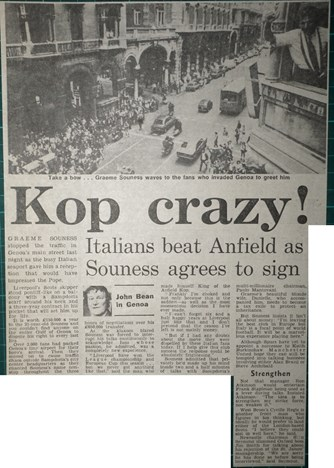 Souness agrees to sign - June 1984