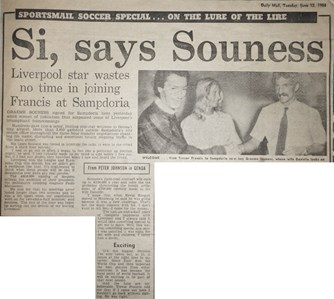 Si says Souness - 12 June 1984