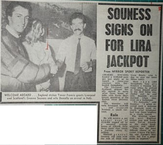 Souness signs on for lira jackpot - 12 June 1984