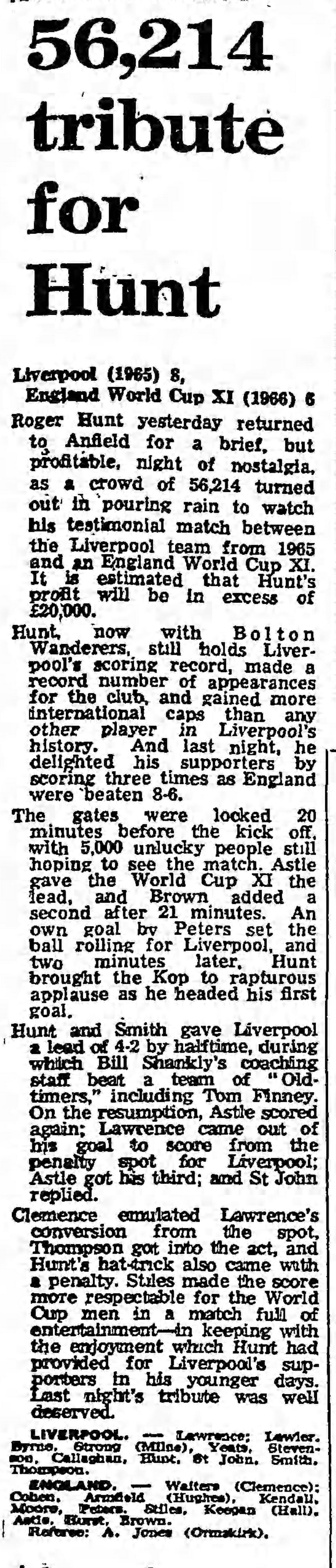 Guardian match report