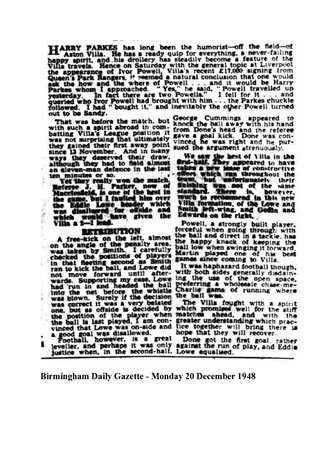 Birmingham Daily Gazette report
