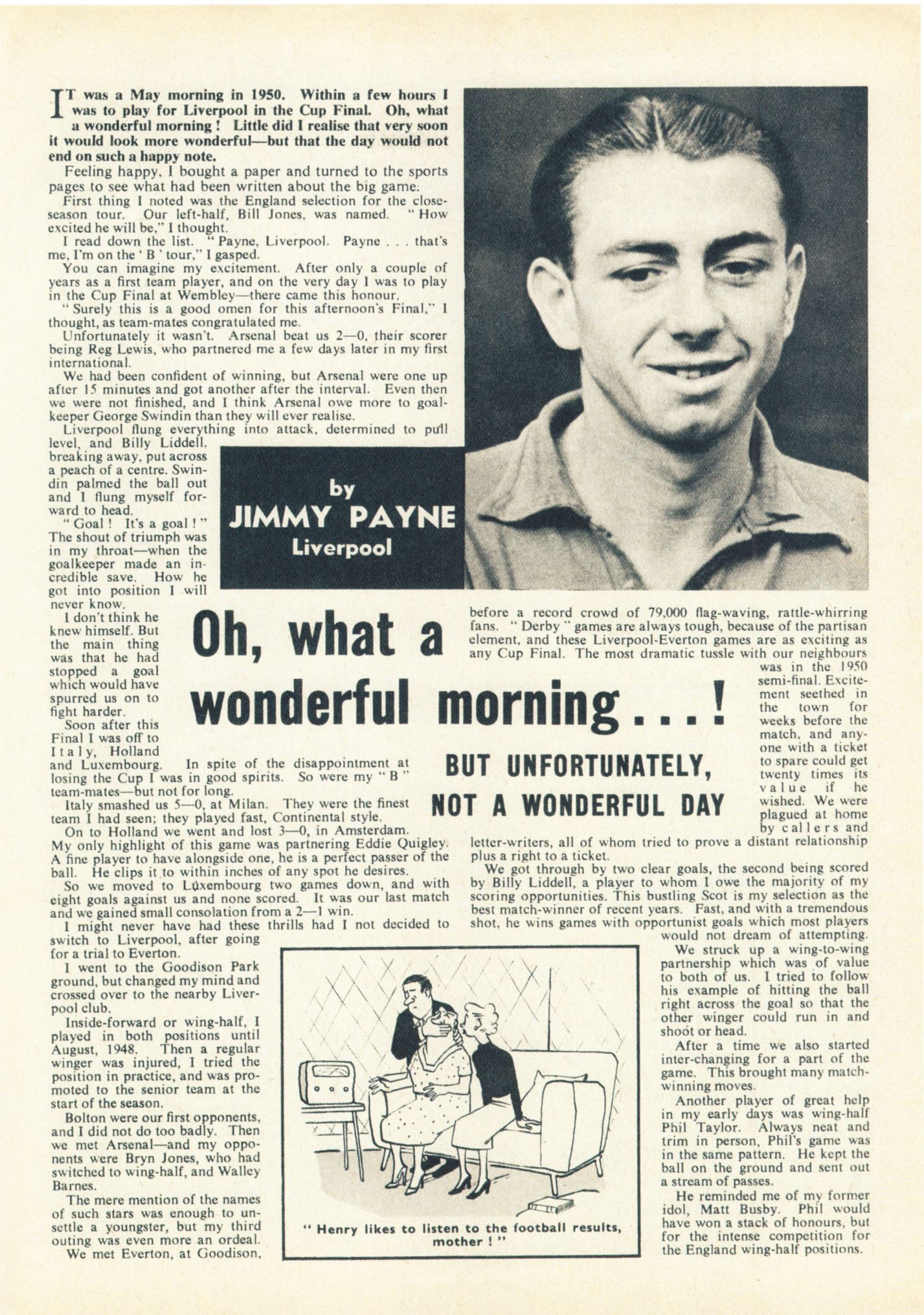 A wonderful morning, but not a wonderful day - Football Monthly December 1955
