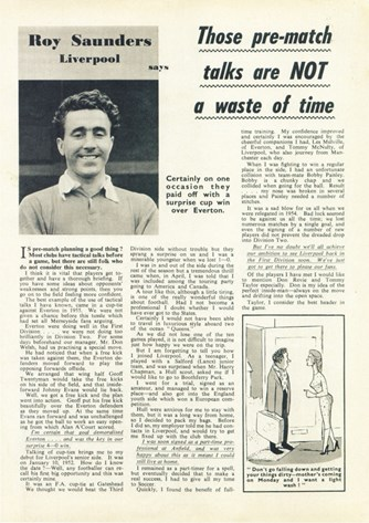 Pre-match talks not a waste of time -  Football Monthly December 1957
