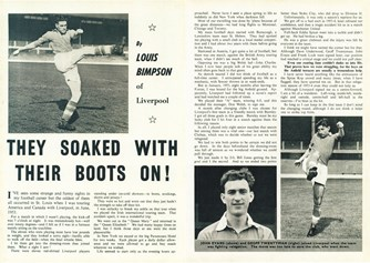 They soaked with their boots on! - Football Monthly 1956-57 season yearbook
