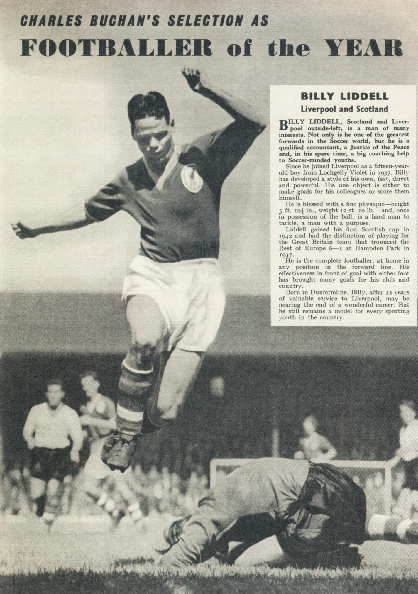 Charlie Buchan's Footballer of the year - April 1961
