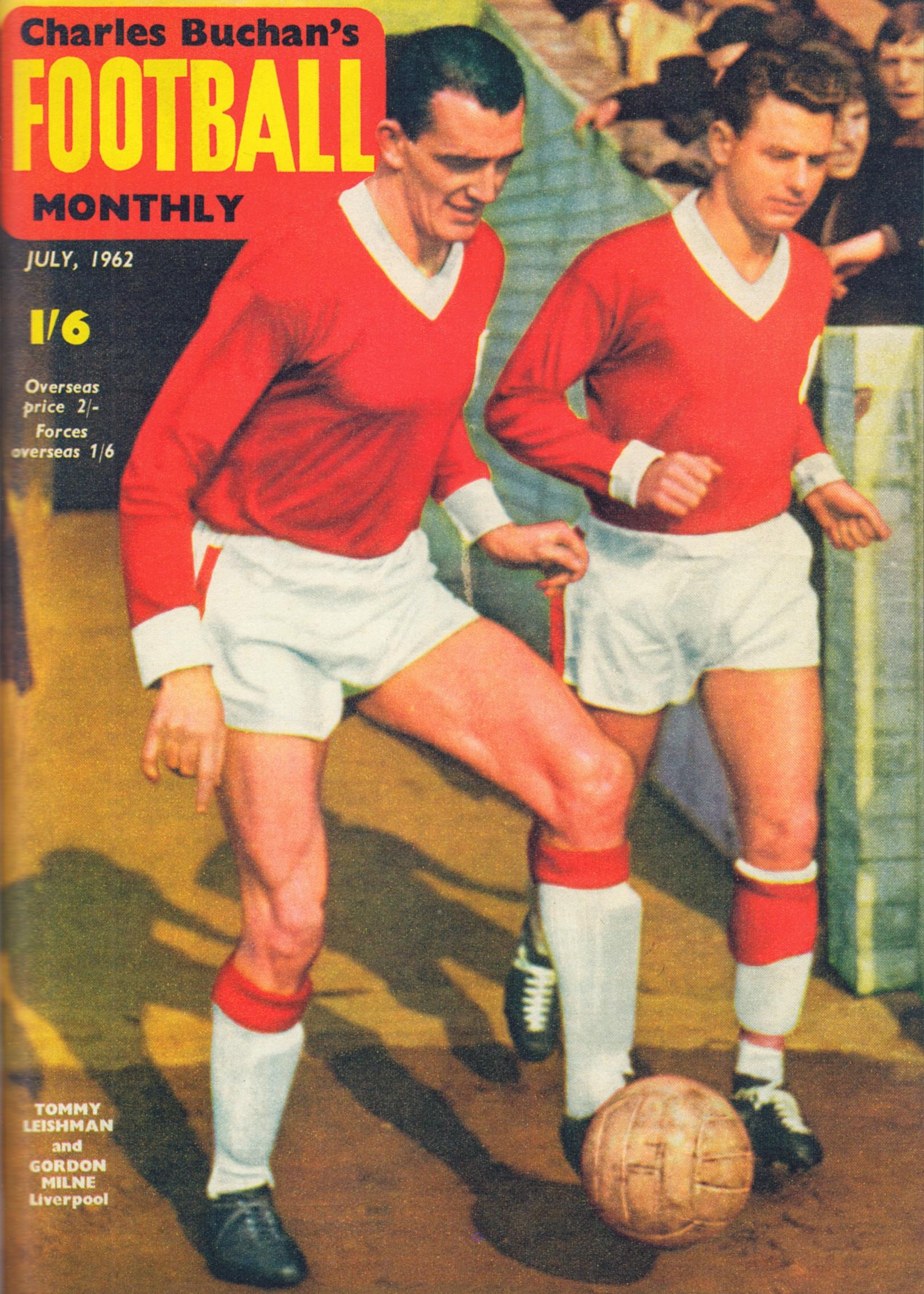 Gordon Milne on the cover of Football Monthly July 1962