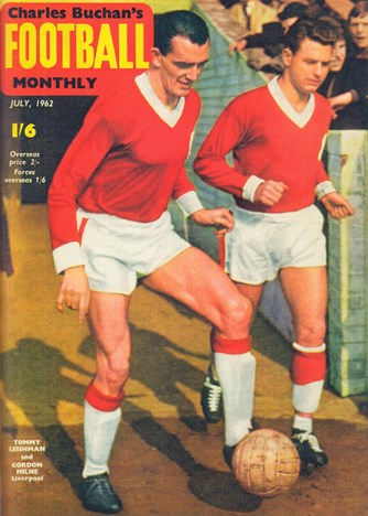 Tommy Leishman on the cover of Football Monthly July 1962