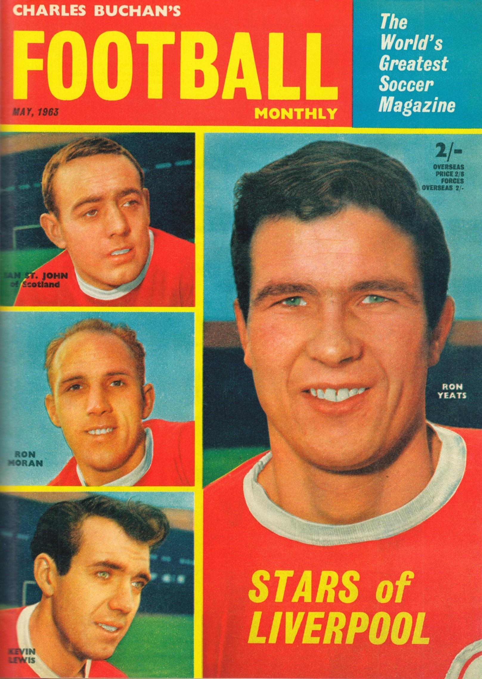 Stars of Liverpool - Cover of Football Monthly May 1963