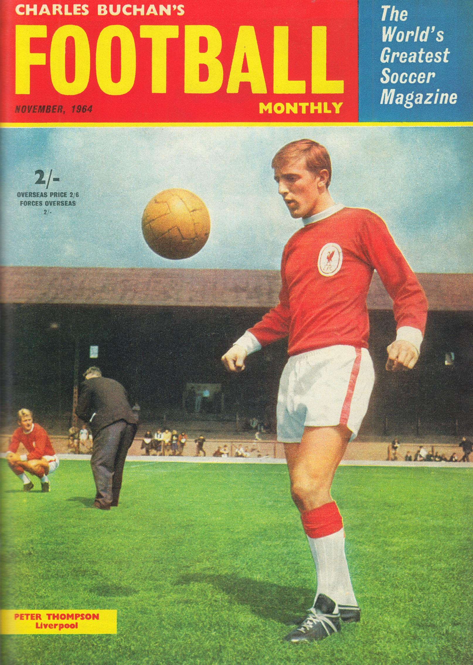 Peter Thompson on the cover of the Football Monthly November 1964