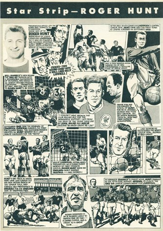 Star Strip - Roger Hunt cartoon in Football Monthly April 1964