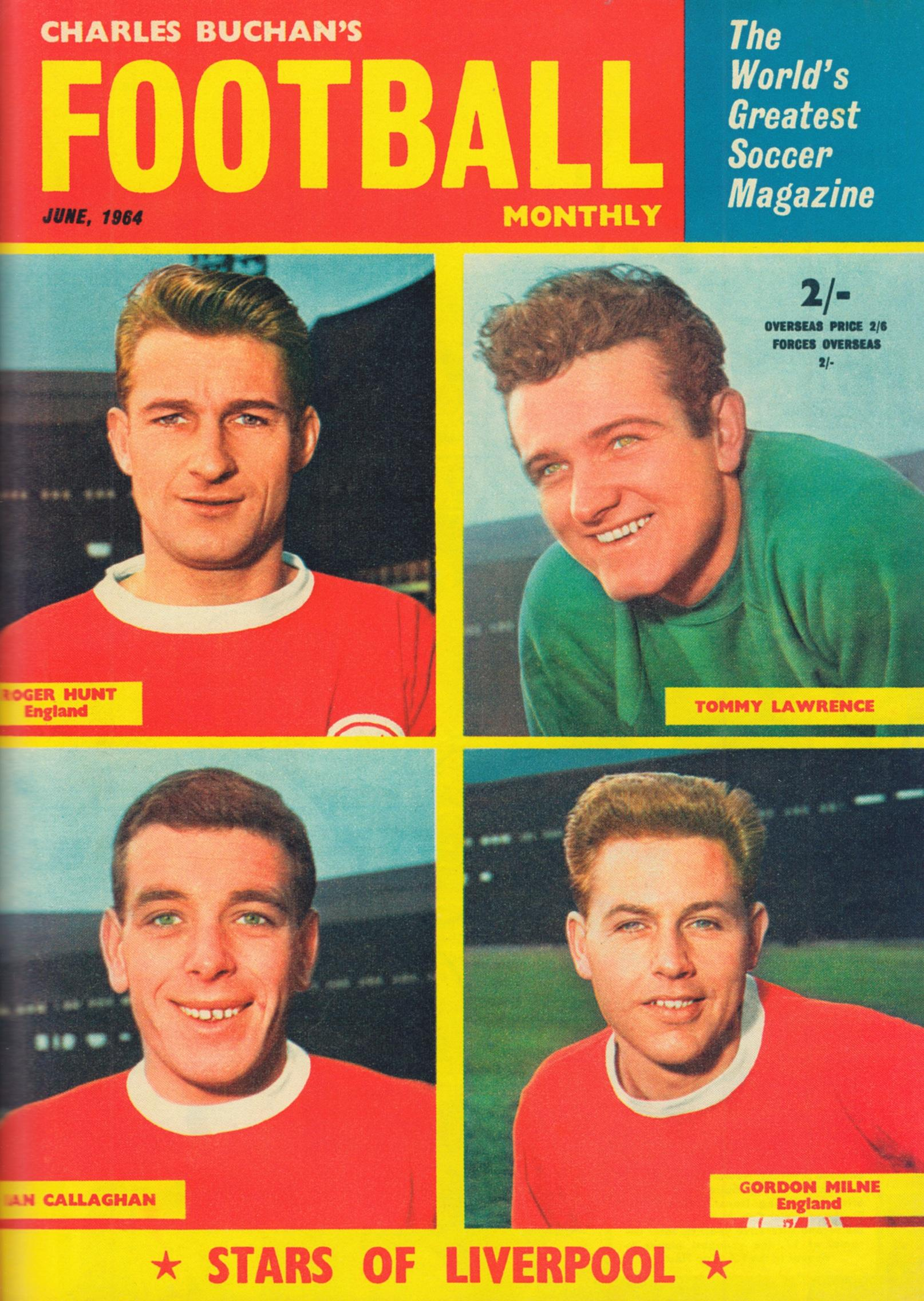 Stars of Liverpool - Cover of Football Monthly June 1964