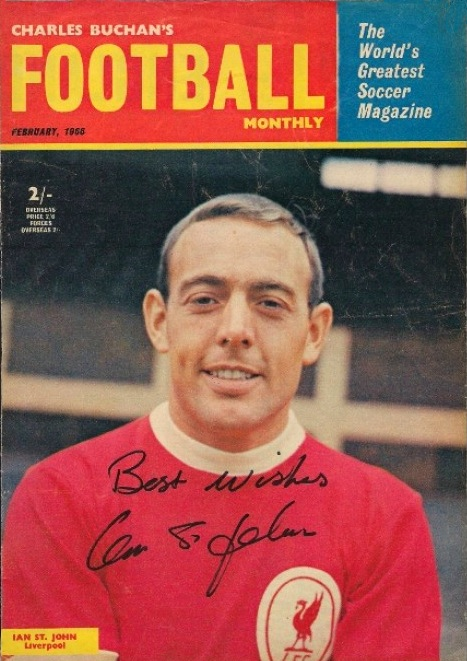 Ian St John on the cover of Football Monthly - February 1966