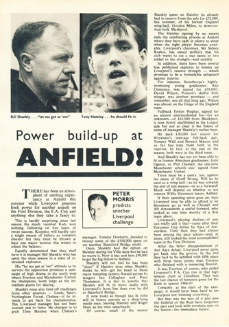 Power build-up at Anfield - Football Monthly September 1967