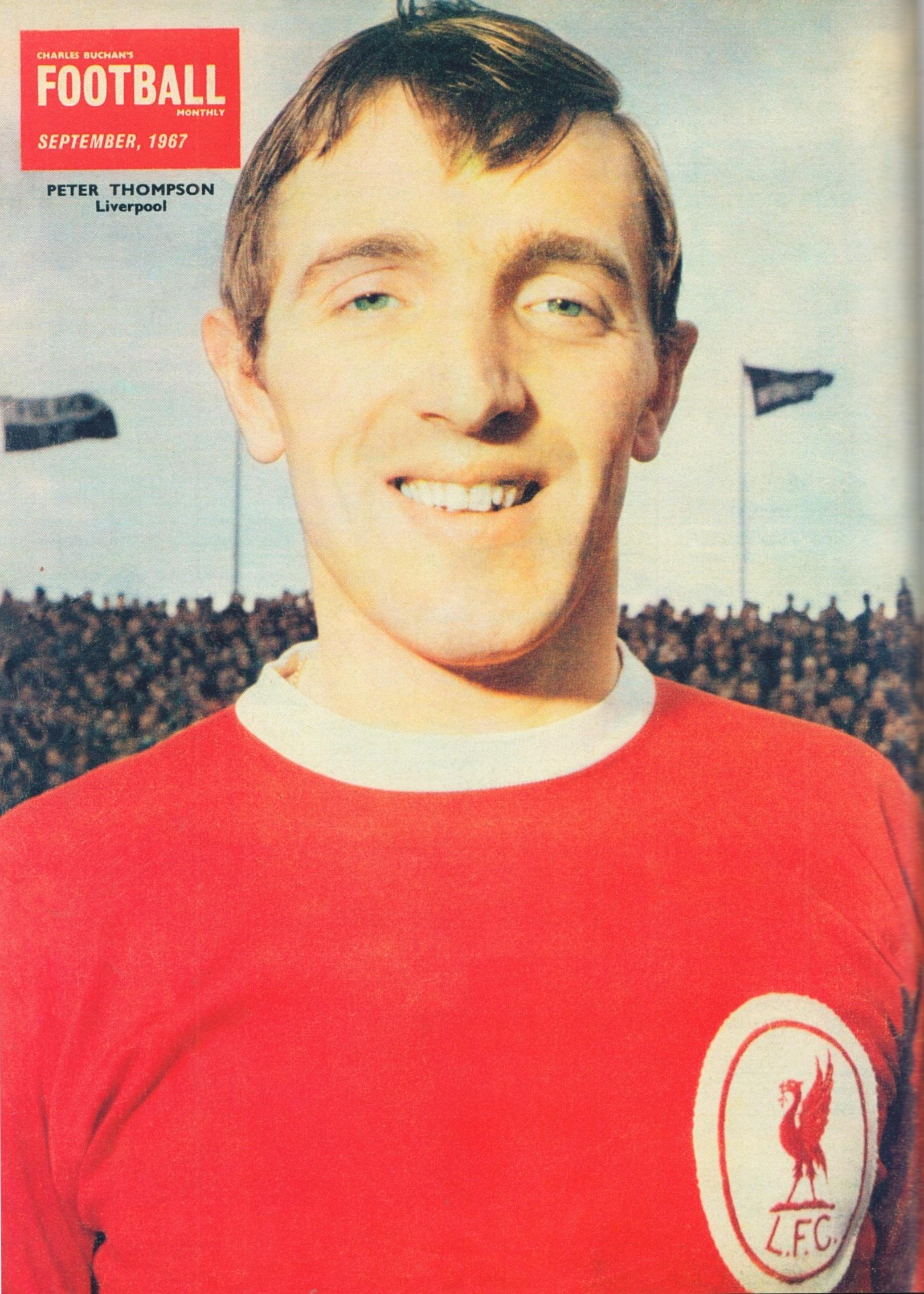 Peter Thompson on the cover of the Football Monthly September 1967