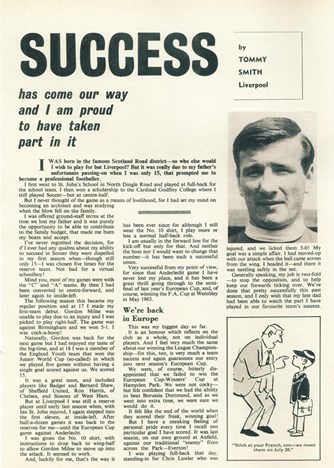 Success has come our way - Football Monthly 1967