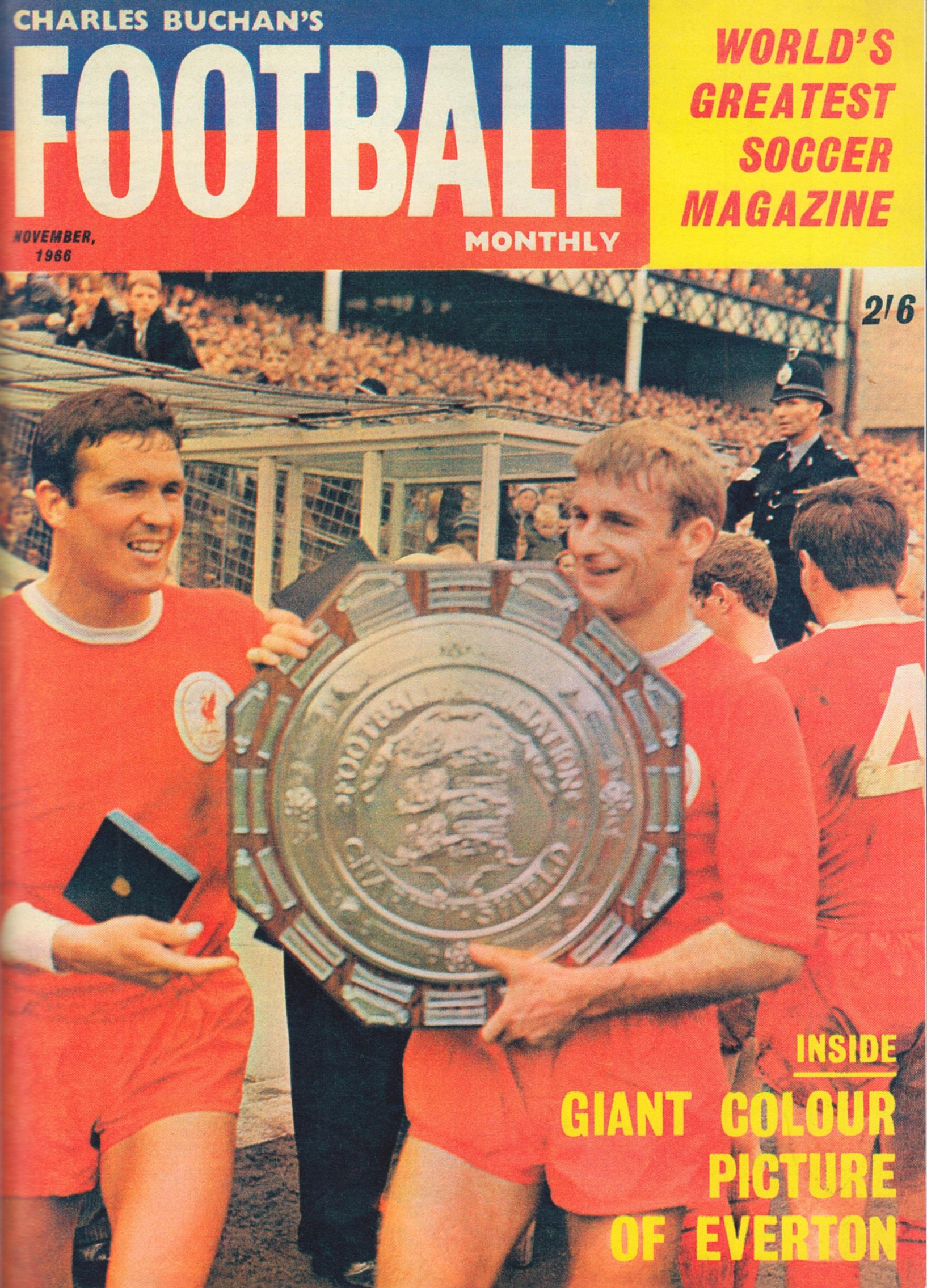 Ron Yeats and Roger Hunt on the cover of Football Monthly November 1966