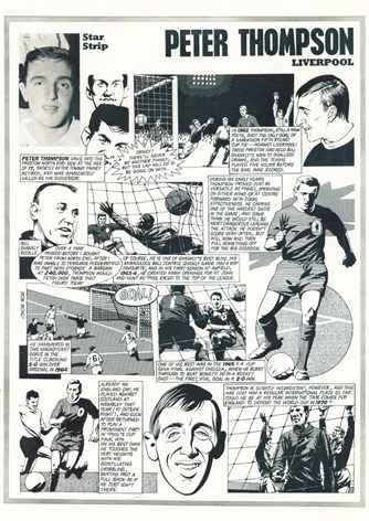 Star Strip - Cartoon of Peter Thompson in Football Monthly