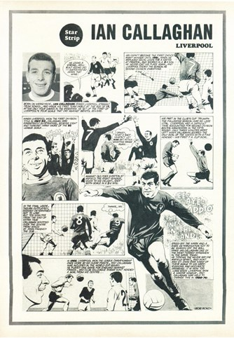 Star Strip - Cartoon of Ian Callaghan in Football Monthly September 1969