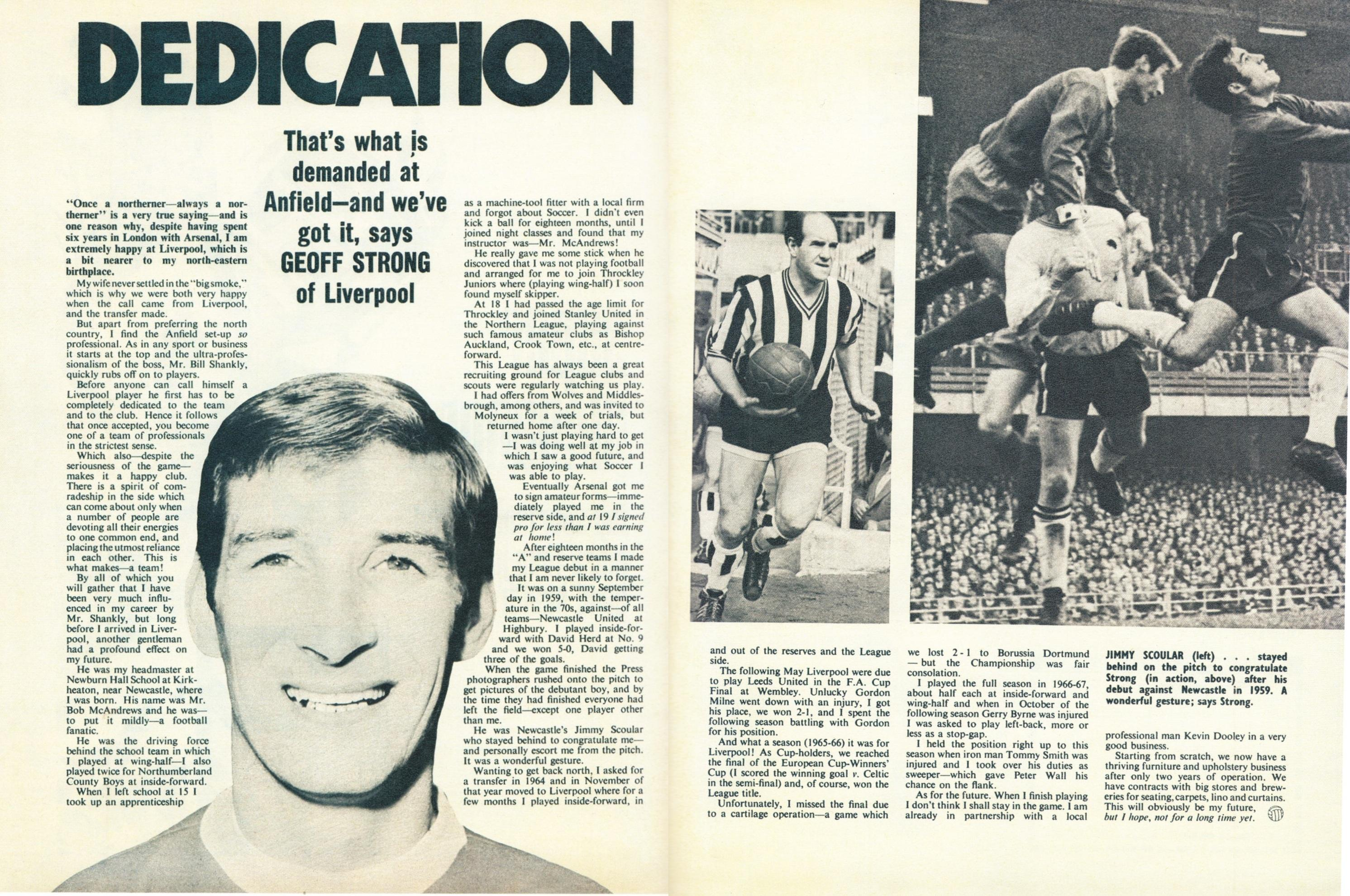 Dedication is what is demanded at Anfield - Football Monthly March 1970