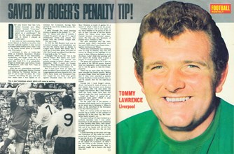 Tommy Lawrence saved by Roger's tip - Football Monthly