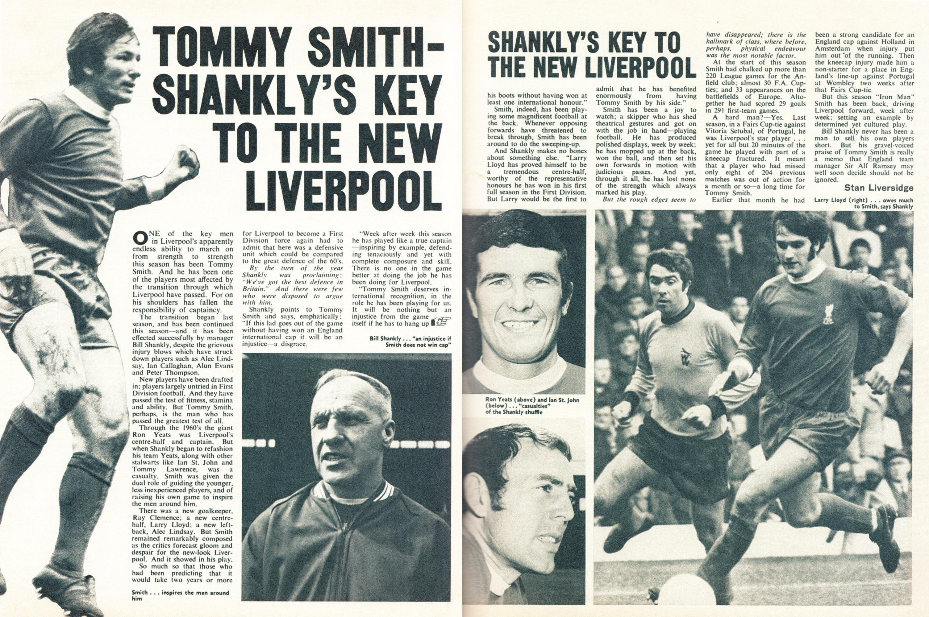 Key to Shankly's new Liverpool - Football Monthly March 1971