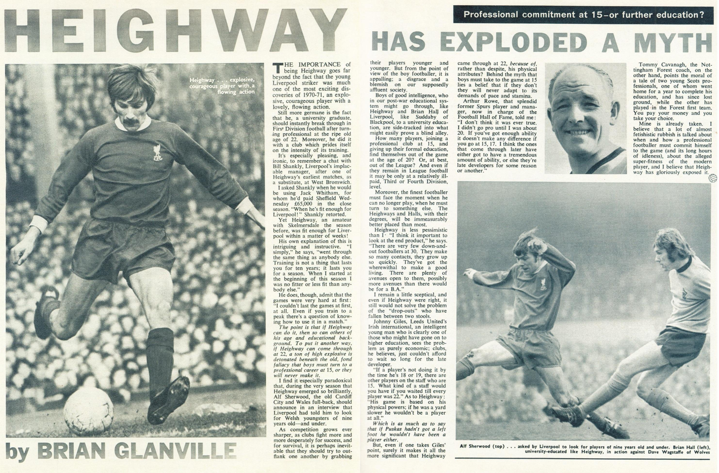 Heighway has exploded a myth - Football Monthly June 1971