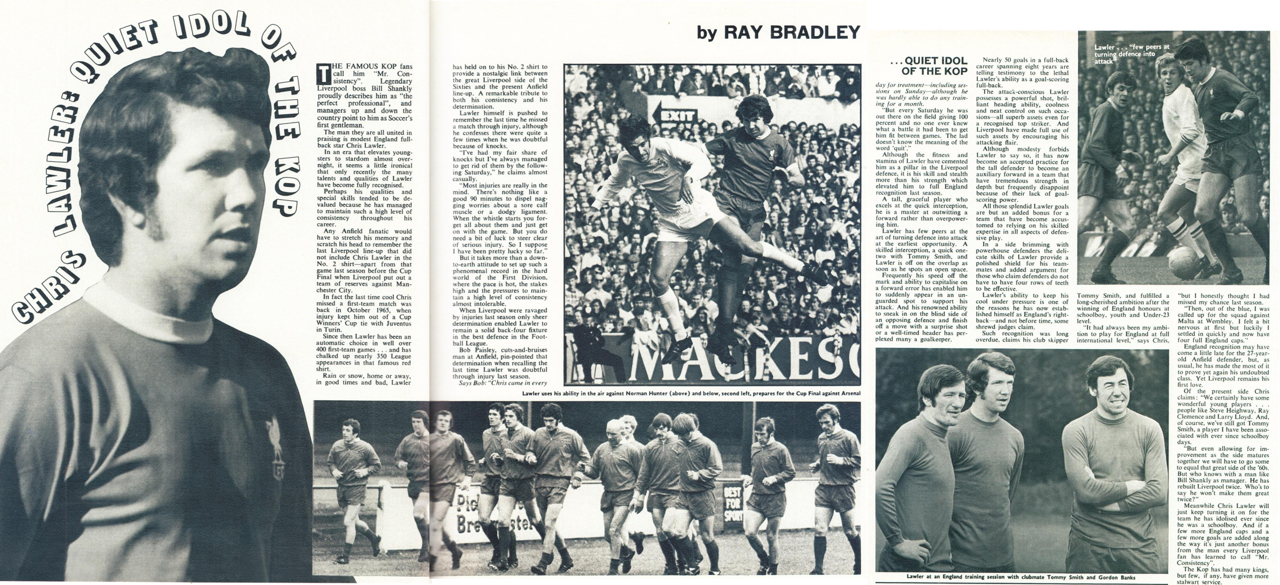 The quiet idol of the Kop - Football Monthly January 1972
