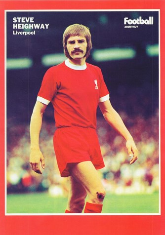 A poster of Steve Heighway - Football Monthly December 1972
