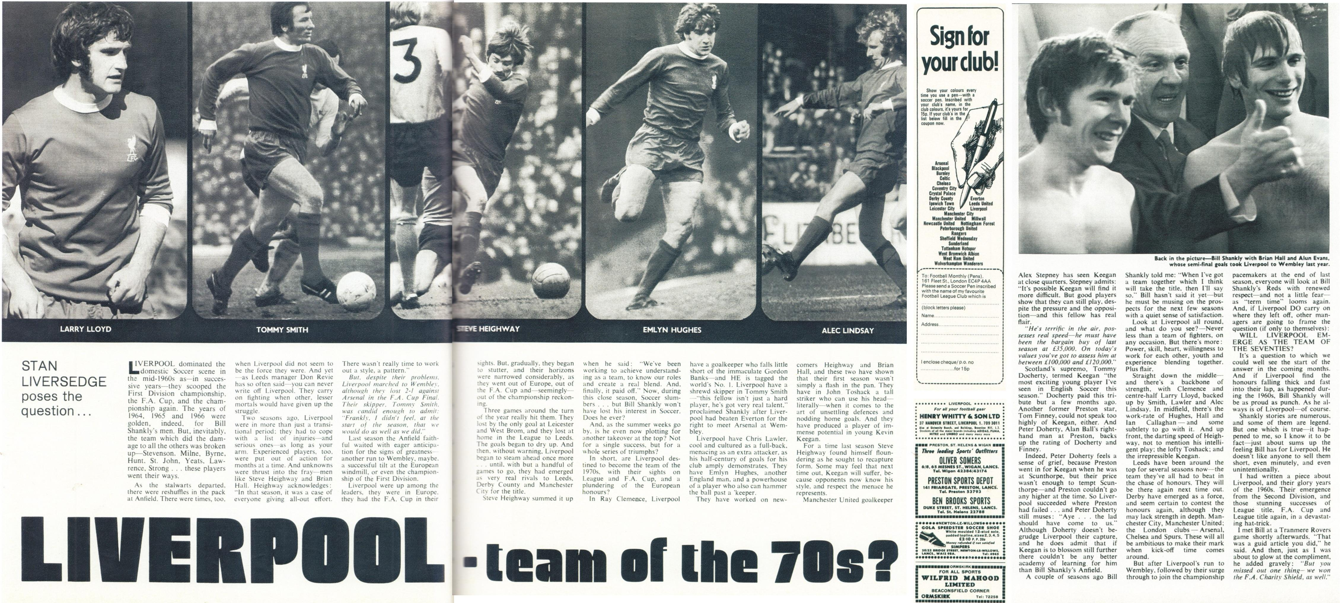 Liverpool: the team of the 70s? - Football Monthly June 1972
