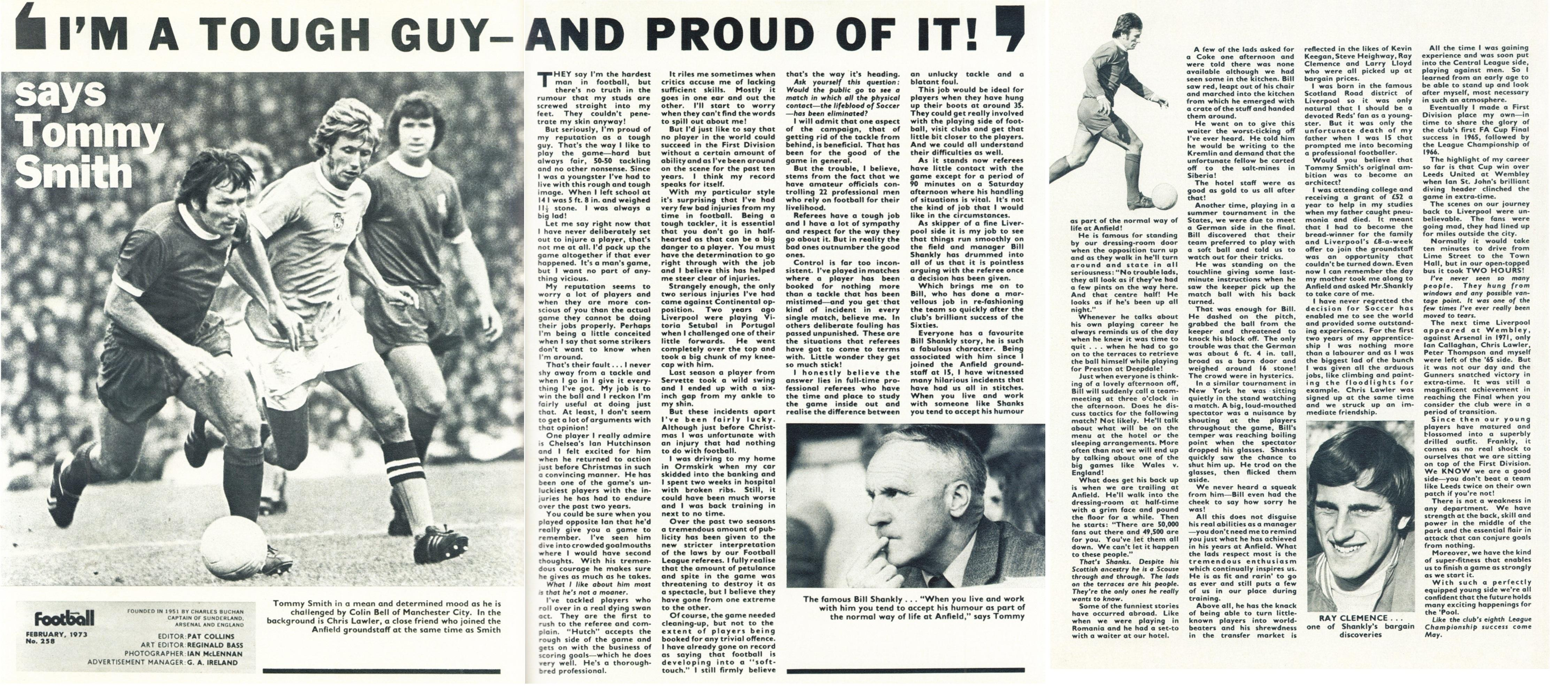 I'm a tough guy and proud of it - Football Monthly February 1973