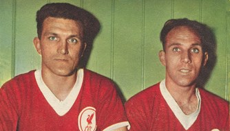 Dick White and Ronnie Moran - Football Monthly